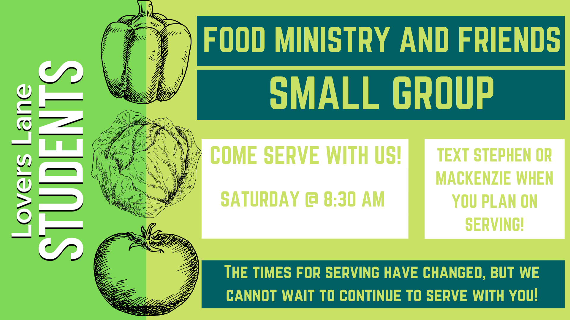 Student Ministry Food Ministry